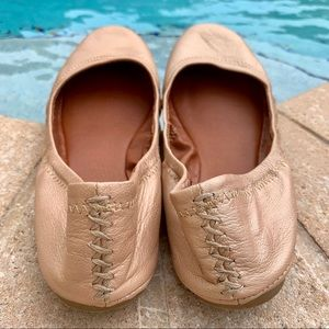 Lucky Brand Shoes - Lucky Brand Rose Gold Braid Spring Flats 6.5